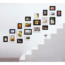 Khung ảnh trang trí cầu thang mẫu 20 khung