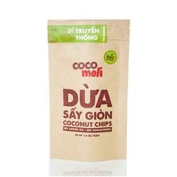 Dừa sấy giòn Cocomeli - Vị truyền thống - 45gram