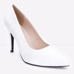 Giày cao gót mũi nhọn chấm bi trẻ trung 127 màu trắng