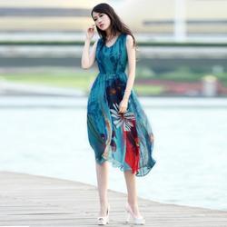 Hàng nhập: Đầm maxi họa tiết tươi trẻ MX0944