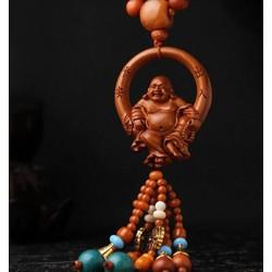 Dây treo gương chiếu hậu phong thủy - Phật Di Lặc