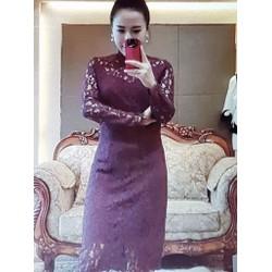 Đầm ren nữ thiết kế ôm thân gợi cảm, phong cách trẻ trung.