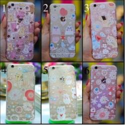 Ốp lưng iPhone 4-4s dẻo hình Mèo đính đá
