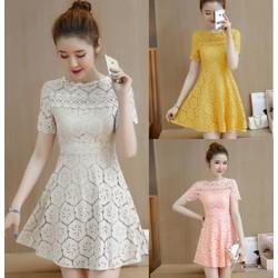 Đầm ren xòe Quảng Châu