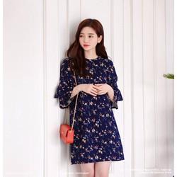 Đầm suông hoa tay loe thời trang – MS0326D