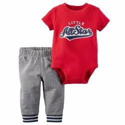 Set bodysuit và quần dài cho bé trai 3m-24m SB155