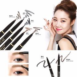 Chì Kẻ Mày Tự Động 3W Clinic Auto Eyebrow Pencil Nâu đen