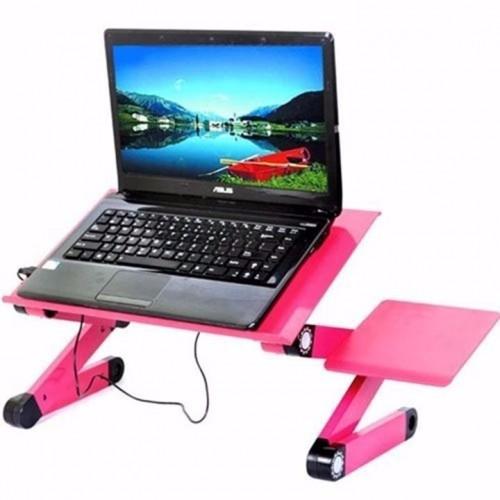 Bàn xoay laptop đa năng Omeidi T8 có quạt kèm bàn di chuột đa năng