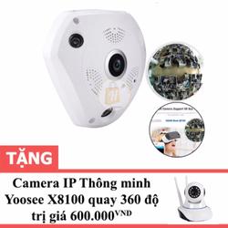 Camera IP VR360 3D quay 360 độ tặng Camera IP wifi Yoosee X8100
