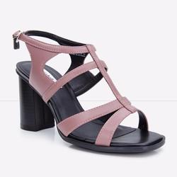Giày Sandals gót vuông quai xương cá 776 màu tím