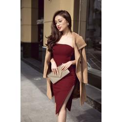 Đầm xẻ tà đẹp thiết kế cúp ngực ôm body trẻ trung 1156