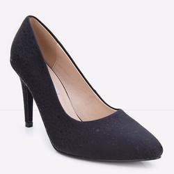 Giày cao gót mũi nhọn chấm bi trẻ trung 127 màu đen