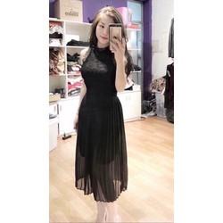 Đầm Maxi Ren Phối Voan
