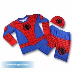 Đồ bơi cho bé liền quần hình người nhện Spiderman tay dài