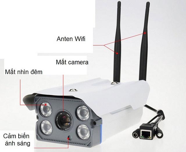 Camera IP Yoosee X5300 không dây wifi ngoài trời hồng ngoại 1.3MP 1