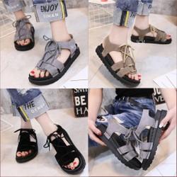 Giày sandal bánh mì cột dây tầng | giày sandal nữ đế bánh mì