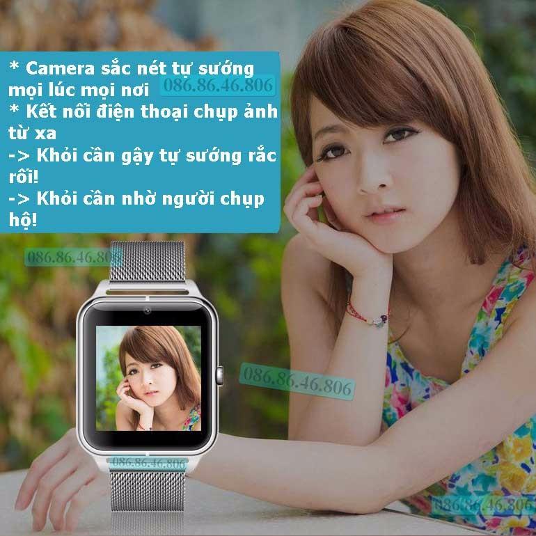 Đồng hồ thông minh Nhật siêu đa năng dây kim loại sang trọng 12