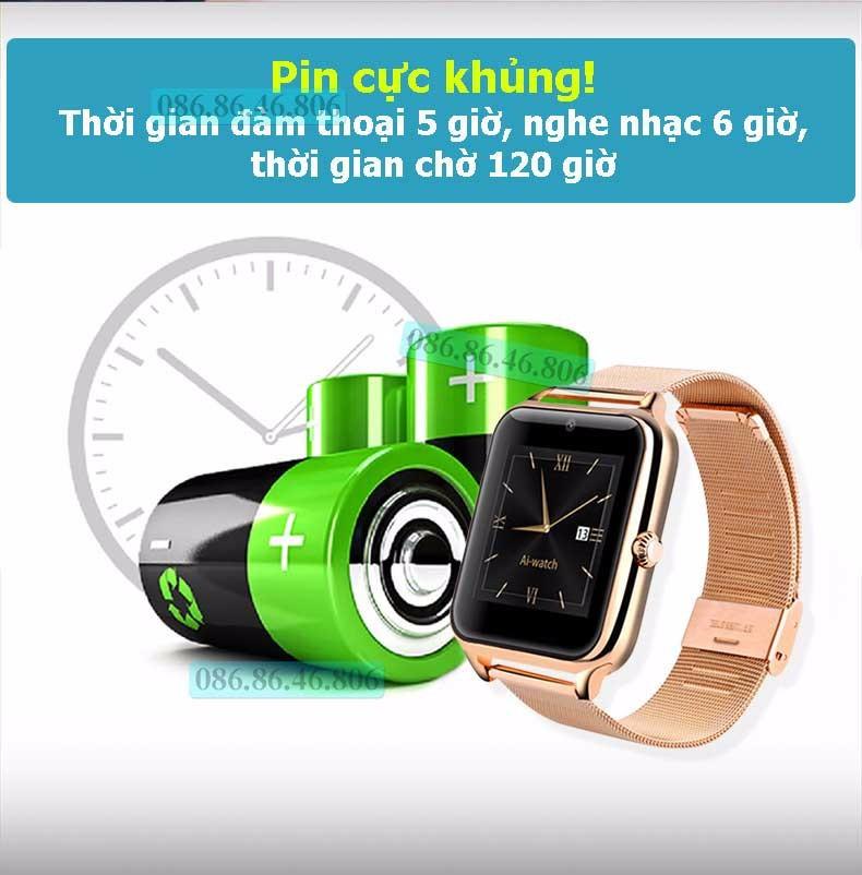 Đồng hồ thông minh Nhật siêu đa năng dây kim loại sang trọng 14