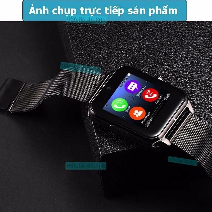 Đồng hồ thông minh Nhật siêu đa năng dây kim loại sang trọng 6