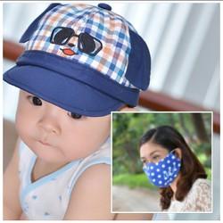 Mũ xinh cho bé và khẩu trang cho mẹ hàng Việt Nam xuất khẩu