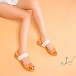 Sandal quai ngang 2 màu Sandshoes