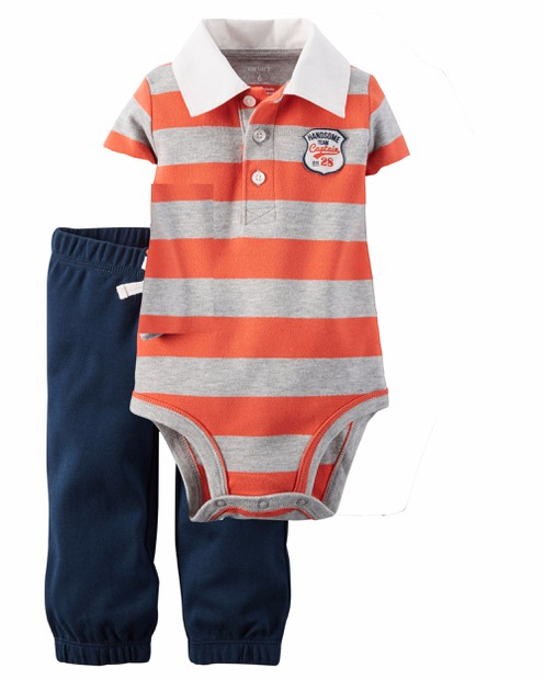 Set bodysuit và quần dài cho bé trai 3m-24m SB155 3