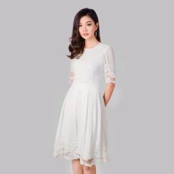 Đầm Ren Tay Lỡ Cao Cấp Thời Trang Eden - D160