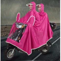 Áo mưa đôi có kính che mặt và khẩu trang chống nước