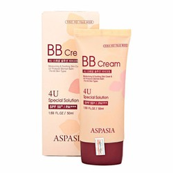 Kem nền Aspasia 4U Special BB Solution Cream SPF50 Pa+++ 50ml