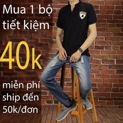 combo bộ quần jean áo thun giảm giá 40k