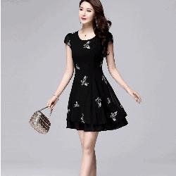 Đầm xòe nữ họa tiết cực xinh NX972
