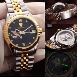 đồng hồ cơ tevise cao cấp chống trầy, chống nước, chống xước