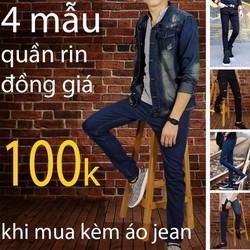 quần jean chỉ 100k khi mua kèn áo jean