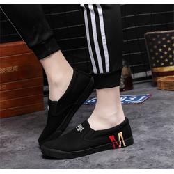 Giày lười vải nam họa tiết M