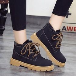 Giày Boot Da Lộn Cổ Cao G257