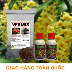 Sản phẩm sinh học chăm sóc hoa lan ra hoa 2 smin 100ml và 1 vermis 1kg