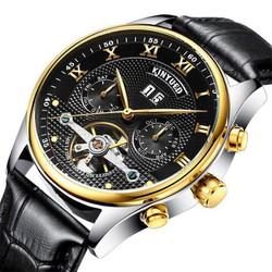 đồng hồ kim cơ dây da cao cấp kinyued
