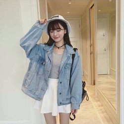 Áo khoác jeans nữ fom rộng