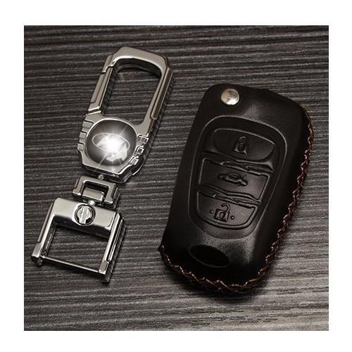 Bao da chìa khóa Hyundai mẫu E