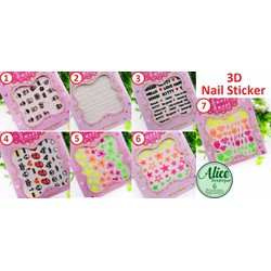 Nail dán sticker 3D