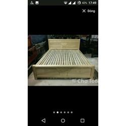 Giường gỗ sồi tự nhiên  or gỗ xoan