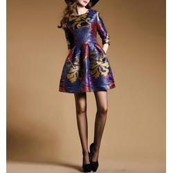 Váy cotton in họa tiết dáng xòe