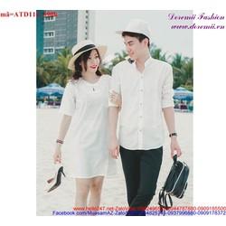 Set áo váy cặp tình nhân xinh yêu cho đôi bạn trẻ ATD116