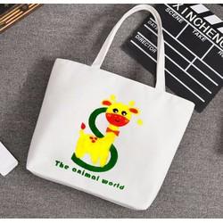 Túi Vải Tote Họa Tiết Hưu S Xinh Store