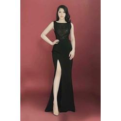 Đầm dạ hội cao cấp xẻ tà quý phái Quyến Rũ