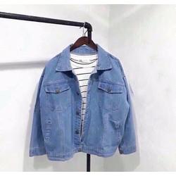 Áo khoác jeans túi có nắp