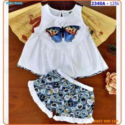 Bộ short kate hình bướm xinh xắn và dễ thương cho bé ngày hè