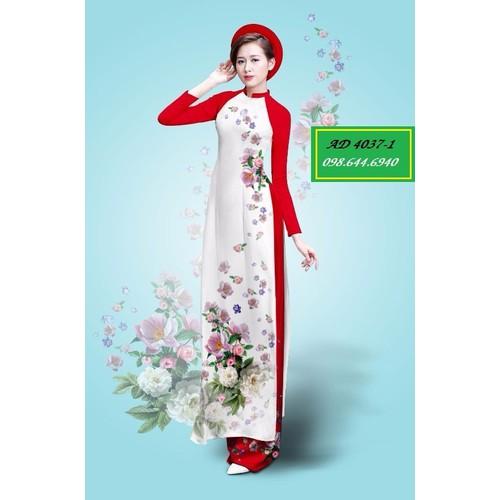 Vải áo dài hoa Ngọc Mỹ - 4037