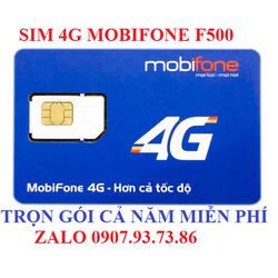 Sim 4G Mobifone Gói cước F500 Miễn Phí 3G - 4G Trọn Gói 11 Tháng