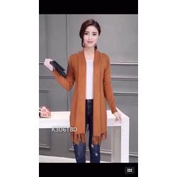 Áo khoác len tua rua hàng Quảng Châu